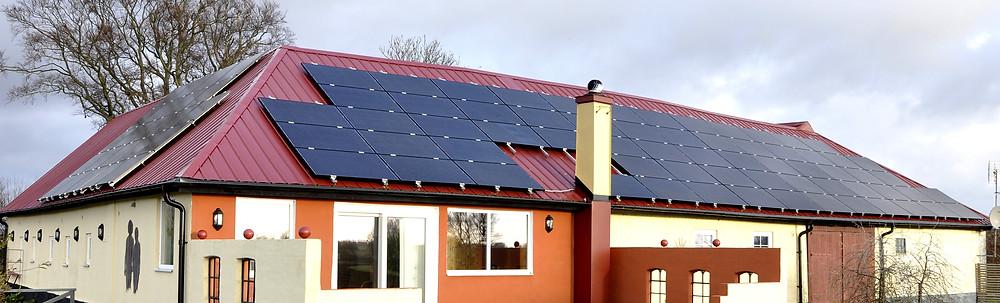 Sydkusten Hylteberga Gård solceller Skåne grön energi