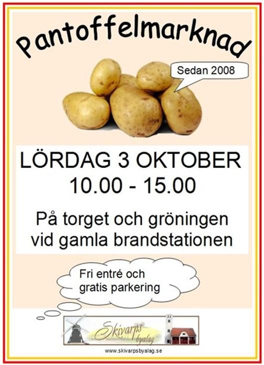 Sydkusten Skåne Skivarp Marknad Pantoffelmarknad potatis höst