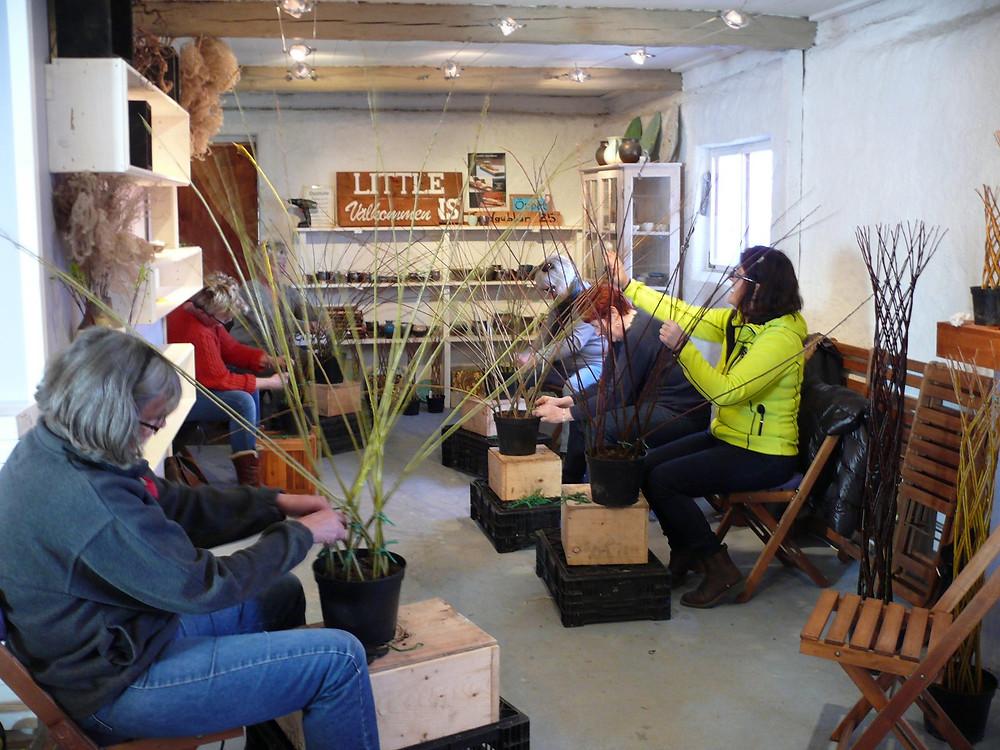 Pilflätning kurs Little Gardens på Sydkusten i Skåne skånska palmer