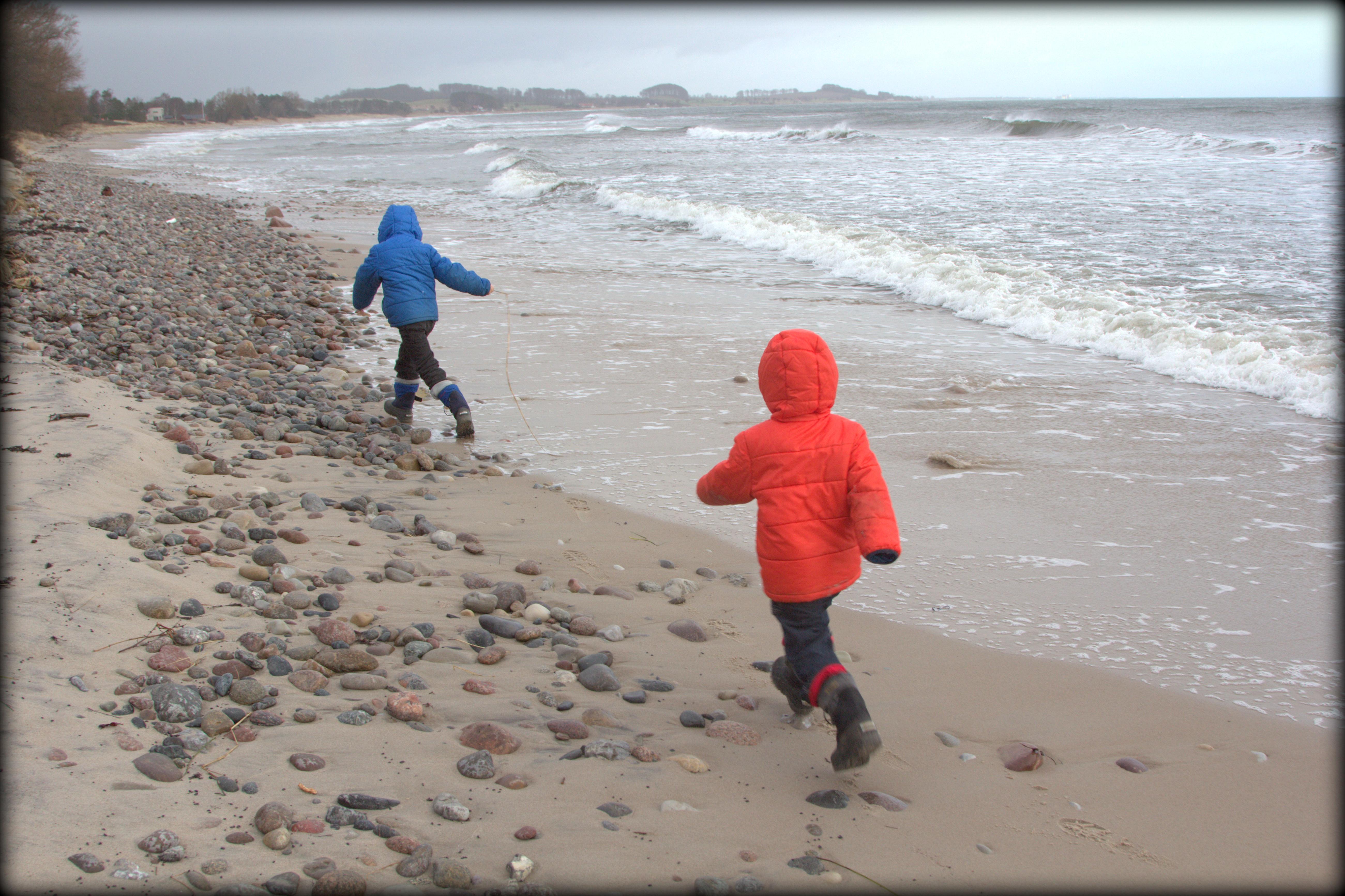 Sydkusten Skåne strand vinter