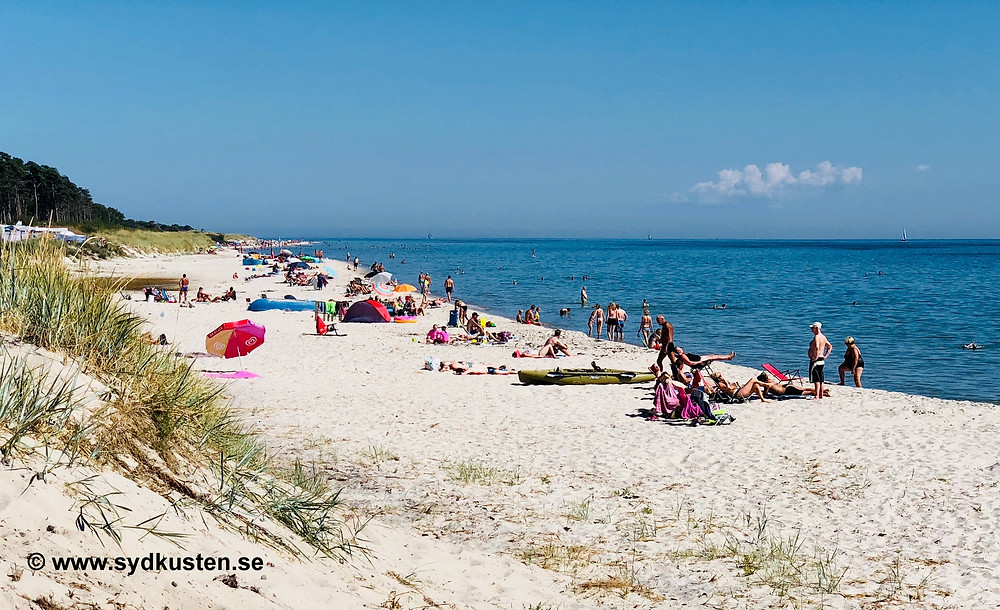 Skåne Löderups Strandbad Campsite sandbeach
