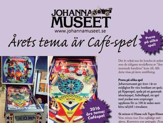 Årets tema är Caféspel hos Johannamuseet