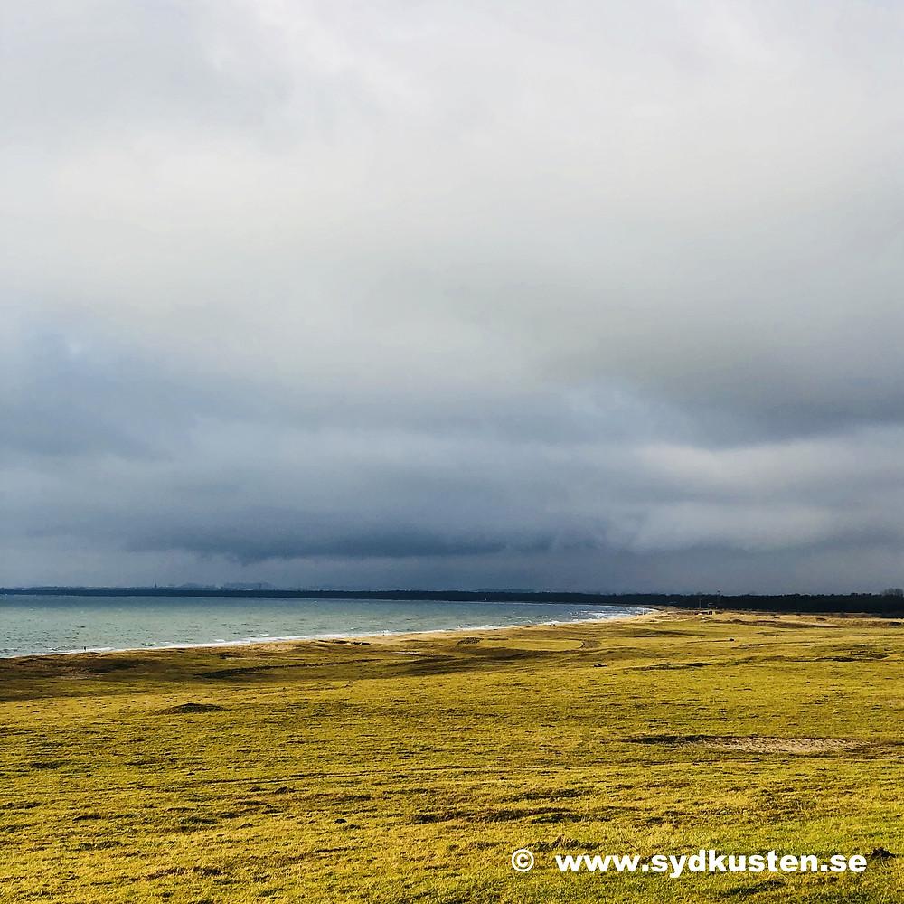 Sydkusten Skåne vinterpromenad Hammars Backar Ystad