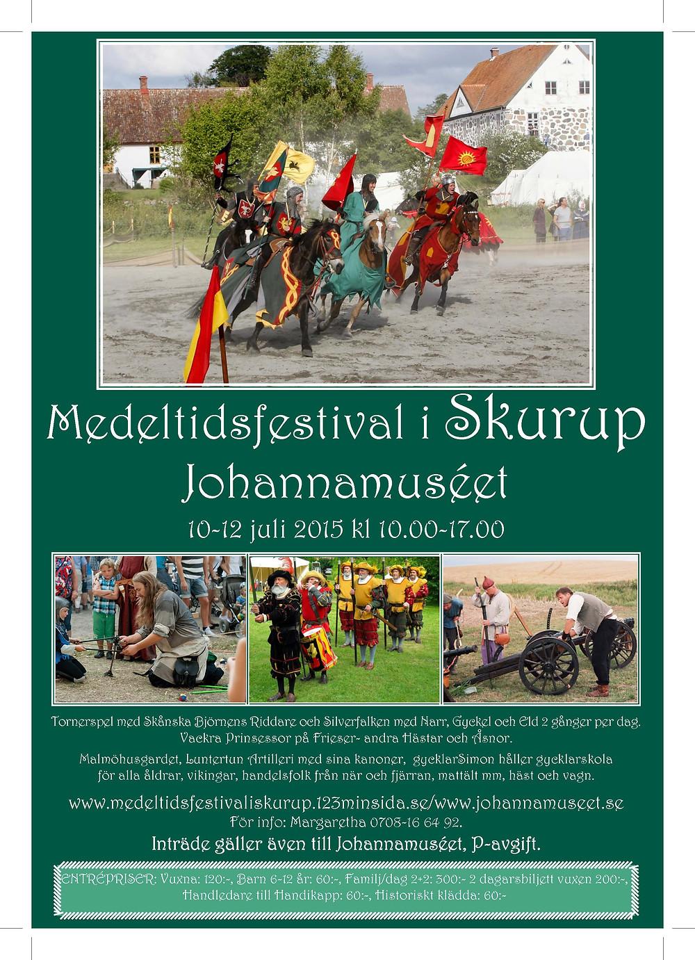 Sydkusten Skåne Skurup Johannamuseet Medeltidsfestival Festival