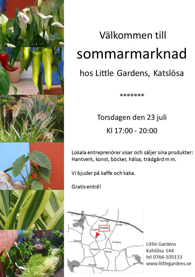 Sydkusten Skåne Sommar Marknad Little Gardens Trädgård Cafe Hantverk