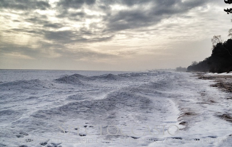 Sydkusten Skåne Mossbystrand Abbekås Mossbylund vinter strand isberg