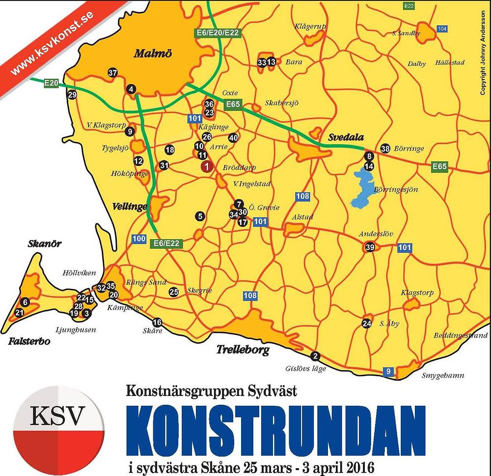 Sydkusten Skåne Konstrundan 2016 påsk Malmö