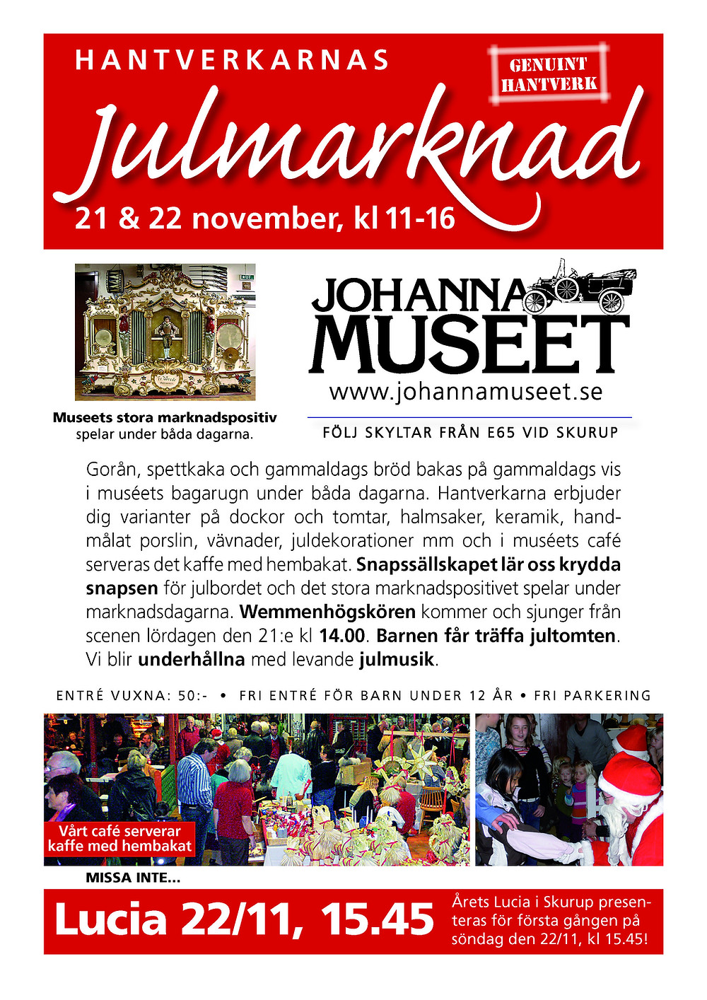 Sydkusten, Skåne, Skurup, julmarknad, Johannamuseet