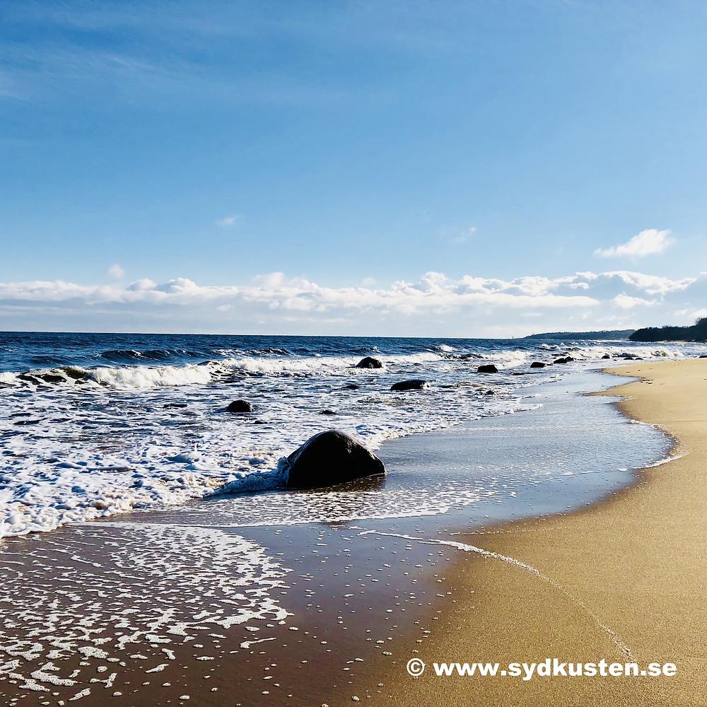 Strandpromenad Vik Baskemölla Sydkusten Skåneleden