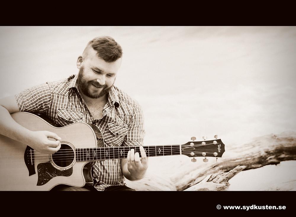 Sydkusten Skåne Vide Geiger musiker gitarr bildspel