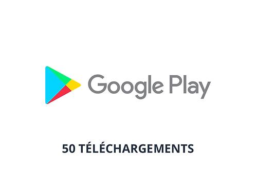 50 téléchargements Google Play Store