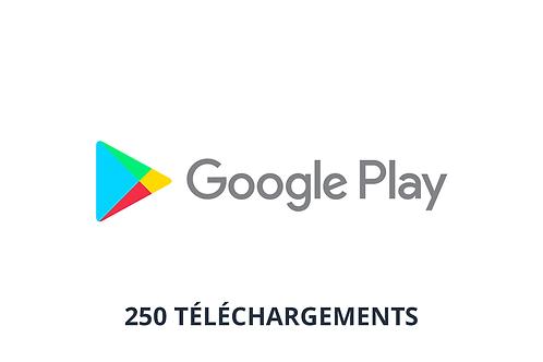 250 téléchargements Google Play Store