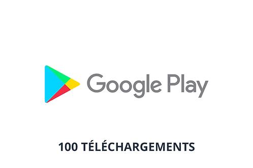 100 téléchargements Google Play Store
