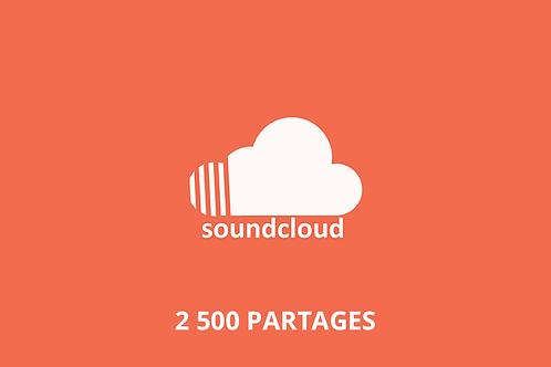 2 500 partages Soundcloud