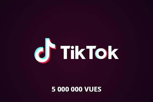 5 000 000 vues tik tok