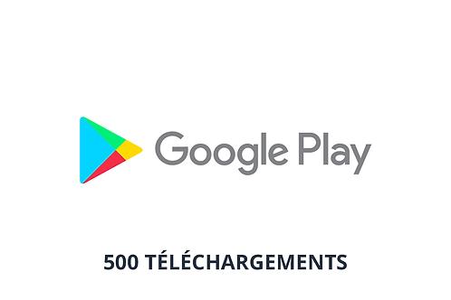 500 téléchargements Google Play Store