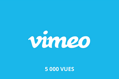 5 000 vues Vimeo