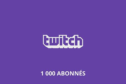1,000 Twitch Followers