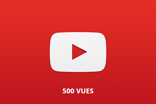 500 vues youtube
