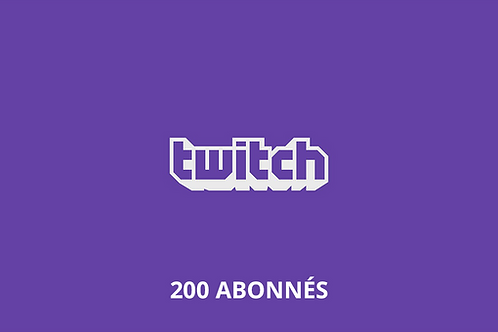 200 abonnés Twitch