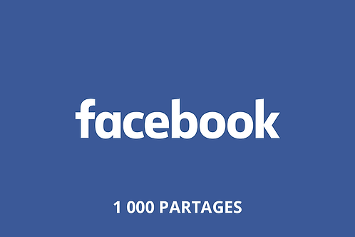 1 000 Partages Facebook