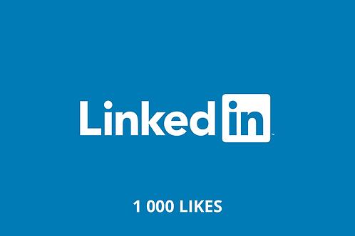 1,000 Likes LinkedIn