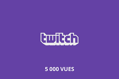 5,000 total Twitch views