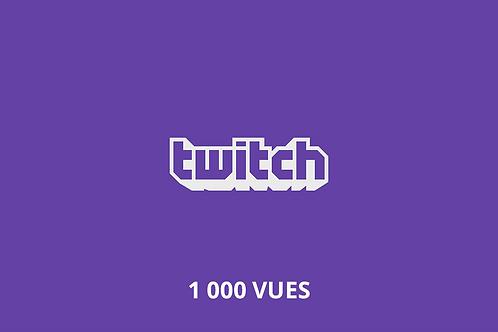 1,000 Twitch video views