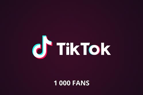 1 000 fans Tik Tok