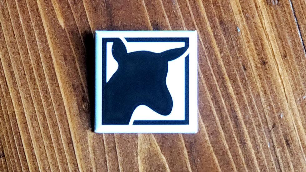 "Goat Button 1.5""×1.5"""