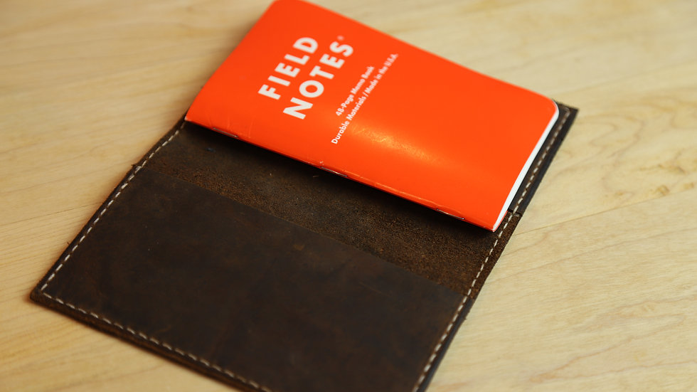 """Leather 3.5"""" Notebook Cover #101"""