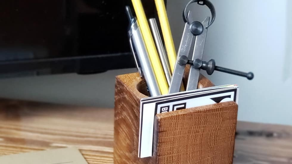 #20 Reclaimed Wood Desk Organizer