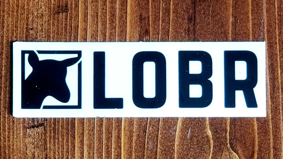 """LOBR Sticker 1""""x4"""""""