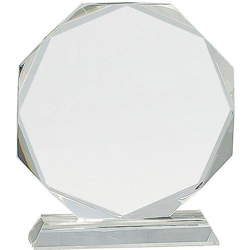Crystal Octagon on Clear Pedestal Base