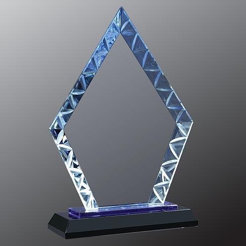 "7 1/2"" Diamond Accent Glass on Blue & Black Base"