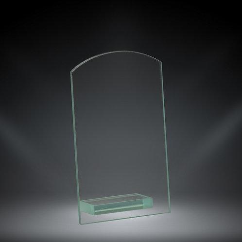 "CURVED RECTANGULAR GLASS 6"" JADE"