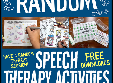 Random Speech Therapy Activities + FREEBIES