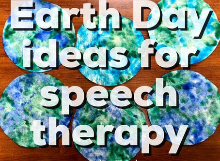 Earth Day Activities in Speech Therapy