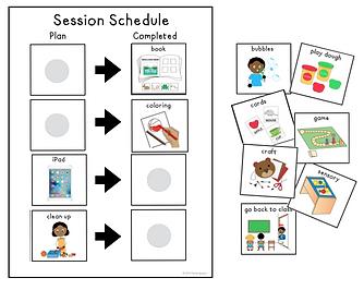 picture relating to Free Printable Visual Schedule for Classroom named 3 Factors I Retain the services of Visible Consultation Schedules In just Speech added (+