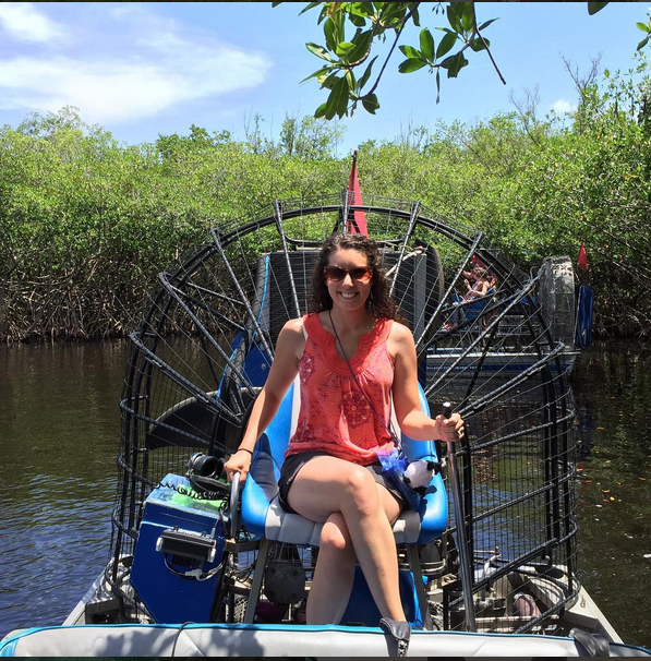 Fan boat through the Everglades