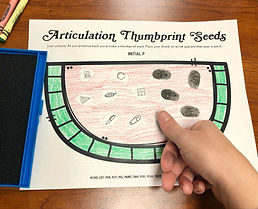 Speech therapy watermelon thumbprint craft