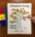 Speech therapy fall thumbprint craft