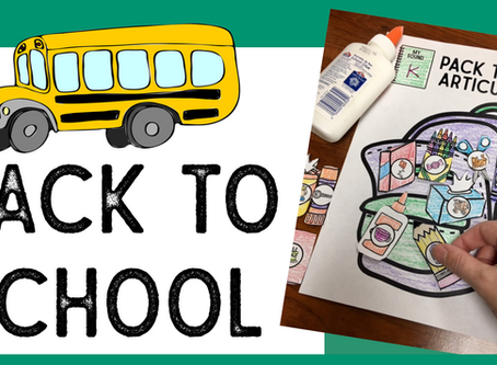 Back to School Resources for Speech Therapy