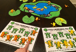 Speech therapy mats to use with jumping frog toys