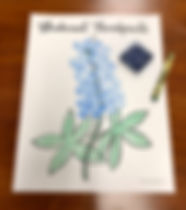 Bluebonnet thumbprint art template