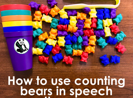 How to Use Counting Bears in Speech Therapy
