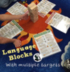 Example of a therapy game using Language Blocks