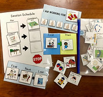 A visual schedule for speech therapy