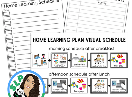 Free Home Learning Schedule for Families
