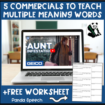 5 Commercials to teach MMW in Speech Therapy + FREEBIE & BOOM CARDS